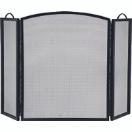 Simple Spaces CPO90505BK3L 3 Panel Black Fireplace Screen