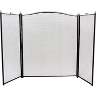 Simple Spaces C31020ASK3L Firescreen 3pnl 30.5x52in Slvr