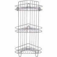 HomeBasix SS-SC3-29-CH-3L Shower Caddy 3Tier Chrome