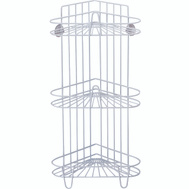 Simple Spaces SS-SC3-29-PE-3L Shower Caddy 3Tier White