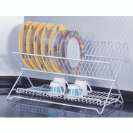 HomeBasix JI-22W-3L Dish Rack White Folding