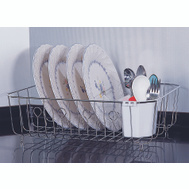 HomeBasix JI-25C-3L Chrome Dish Drainer With Basket