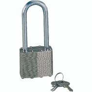 ProSource HD00020L-D-3L2 1-1/2 Inch Padlock Laminated Steel 2 Inch Shackle 2 Pack
