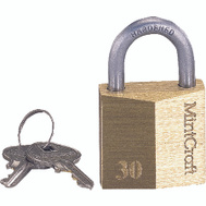 ProSource HD10030-3L 1-1/4 Inch Brass Padlock