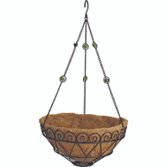 Landscapers Select T0017-3L 14 Inch Decorative Hanging Basket
