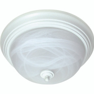 Boston Harbor BRT-FL2263L 2 Light White Alabaster Ceiling Fixture