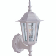 Boston Harbor AL8041-WH3L 1 Light Exterior Wall Lantern White With Clear Glass Panels