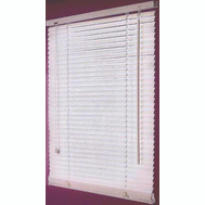 HomeBasix FWB-35X64-3L Blind Faux Wood White 35X64in