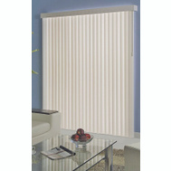 Simple Spaces MBV-78X84-V3L Blind Vert Vinyl White 78X84in