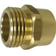 Landscapers Select PMB-468-3L Brass 3/4 MHT By 3/4 Inch FIP Hose Adapter