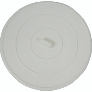 WorldWide Sourcing PMB-102-3L 5 Inch White Flat Suction Sink Stopper