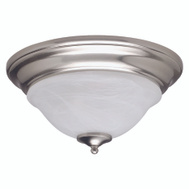 Boston Harbor BRT-ATE1012-SC3L 2 Light Nickel Alabaster Ceiling Fixture