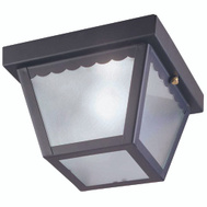 Boston Harbor 6276BK3L 1 Light Impact Black Porch Fixture
