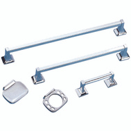 Boston Harbor CSC 001A-3L Manhattan Bath Hardware Set 5 Piece Chrome