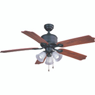 Boston Harbor AC362+3L-NI-3L Ceiling Fan 52 Inch Natural Iron