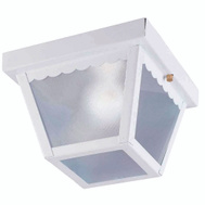 Boston Harbor 6276WH3L Fixture Porch Cmnt 1Lt White