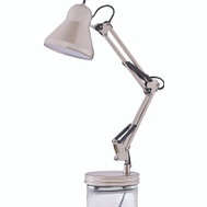 Boston Harbor WK-618E-3L Satin Nickel Swing Arm Desk Lamp