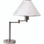 Boston Harbor TL-TB-8008-3L Satin Nickel Swing Arm Desk Lamp With Shade