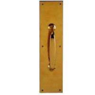 ProSource HRP8006-3L Mintcraft Pull Plate Solid Brass 3 By 12 Inch Polished Brass