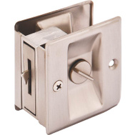 ProSource PDS15-62SN-3L Mintcraft Privacy Pocket Door Latch 2-1/2 By 2-3/4 By 1-3/8 Inch Satin Nickel