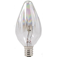 Sylvania 13434 15 Watt Decorative Light Bulbs Incandescent F10 Clear