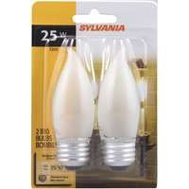 Sylvania 13439 25 Watt Light Bulbs Incandescent Chandelier Blunt Tip B10 Soft White 2 Pack