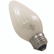 Sylvania 13820 25 Watt Light Bulbs Incandescent Flame F10 White 2 Pack