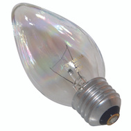 Sylvania 13821 25 Watt Light Bulbs Incandescent Flame F10 Clear 2 Pack