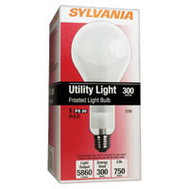 Sylvania 15735 300 Watt Incandescent Utility Light Bulb A23 Frosted