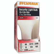 Sylvania 18009 15-135-150 Watt 3 Way Incandescent Security Bulb