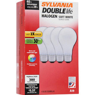 Sylvania 50047 Halogen A19 Bulbs Soft White 28 Watt 4 Pack
