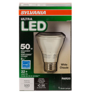 Sylvania 78991 Ultra Led 500 Lumen LED Ultra Par20 8 Watt Dimmable Replacement Bulb