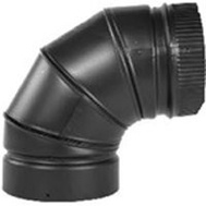 Selkirk DSP7E9-1 Elbow Stovepipe 90Deg 7In Blk