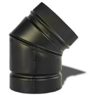 Selkirk DSP6E4-1/266215 Elbow Stovepipe 45Deg 6In Blk