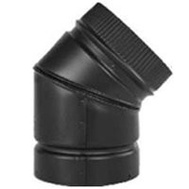Selkirk DSP7E4-1 Elbow Stovepipe 45Deg 7In Blk