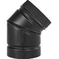 Selkirk DSP8E4-1 Elbow Stovepipe 45Deg 8In Blk
