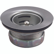 Plumb Pak PP5421 Sink Basket Strainer Assembly Jr. 2 To 2-1/2 Inch Opening Duo Stainless Steel