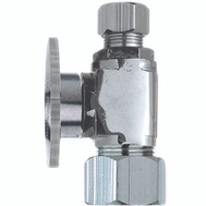 Plumb Pak PP20063LF 1/2 Nom Compression By 3/8 Od Quarter Straight Valve