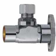 Plumb Pak PP20060LF 1/2 Compression Sweat By 3/8 Quarter Angle Valve