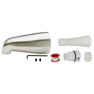 Plumb Pak PP825-33BN Universal Fit Tub Spout Without Diverter Brushed Nickel