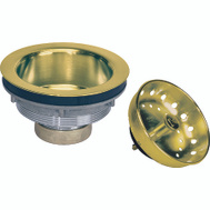 Plumb Pak PP5435PB Brass Work Horse Strainer Polished Brass