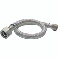 Plumb Pak PP23818 1/2 Inch Ip By 1/2 Inch Fip By 20 Inch Supply Tube Stainless Steel