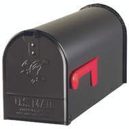 Solar Group E1100B00 Elite Mailbox Std Blk Pst Mt
