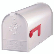 Solar Group E1100W00 Elite Mailbox Std White Stl Post Mnt