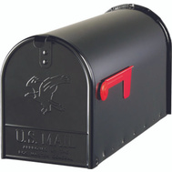 Solar Group E1600B00 Elite Mailbox Lge Blk H-Dty Post Mnt