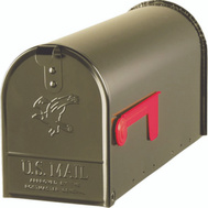 Solar Group E1100BZ0 Elite Mailbox Std Brnz Stl Post Mnt
