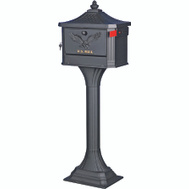 Solar Group PED0000B The Pedestal Pedestal Mailbox Post Lockable Black