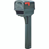 Solar Group GGC1B0000 Mailbox And Post C2 Black Plastic
