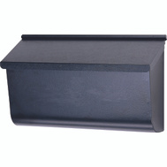 Solar Group L4010WB0 Woodlands Extra Large Black Galvanized Wall Mailbox