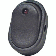 Calterm 40393 Black Oval Rocker Switch With Red Led